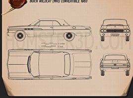 Buick Wildcat convertible 1963 Blueprint