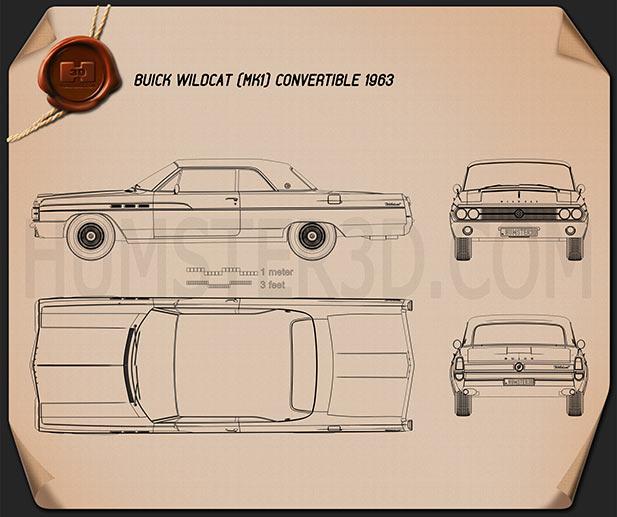 Buick Wildcat convertible 1963 Blueprint