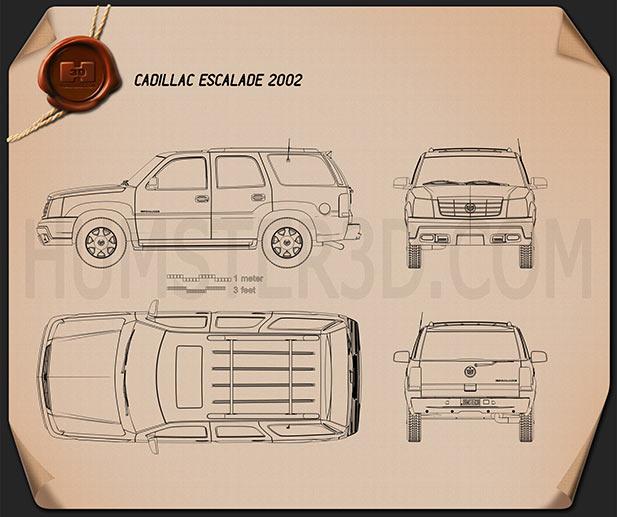 Cadillac Escalade 2002 Blueprint