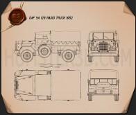 DAF YA-126 Radio Truck 1952 Blueprint
