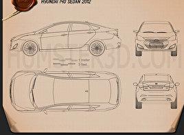 Hyundai i40 sedan 2012 Blueprint