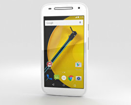 3D model of Motorola Moto E (2nd Gen.) White