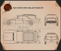 Buick Century Caballero wagon 1957 Blueprint