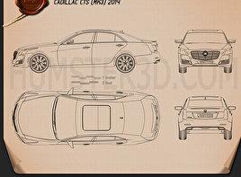 Cadillac CTS 2014 Blueprint