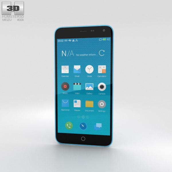 Meizu M1 Note Blue 3D model