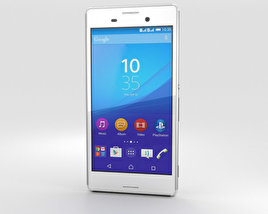 3D model of Sony Xperia M4 Aqua White