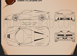 Ferrari F70 LaFerrari 2014 Blueprint