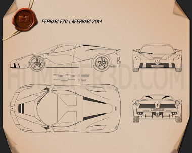 Ferrari F70 LaFerrari 2014 Blueprint