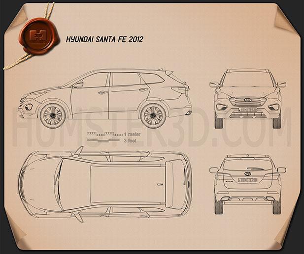 Hyundai Santa Fe 2012 Blueprint