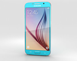 3D model of Samsung Galaxy S6 Blue Topaz