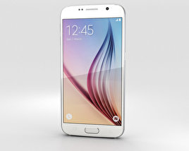 3D model of Samsung Galaxy S6 White Pearl