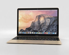 3D model of Apple MacBook Gold