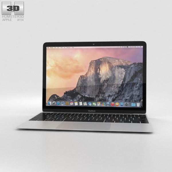 Apple MacBook Silver 3D model