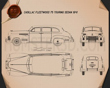 Cadillac Fleetwood 75 touring sedan 1941 Blueprint