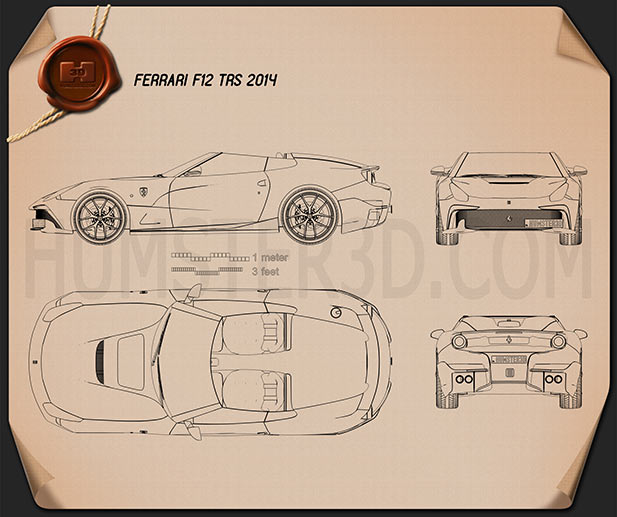 Ferrari F12 TRS 2014 Blueprint