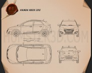 Hyundai HB20X 2013 Blueprint 3d model