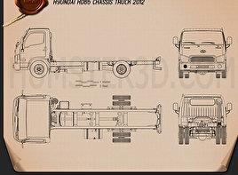 Hyundai HD65 Chassis Truck 2012 Blueprint