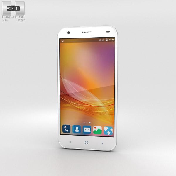 ZTE Blade S6 White 3D model
