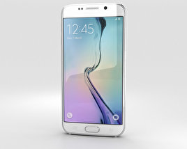 3D model of Samsung Galaxy S6 Edge White Pearl