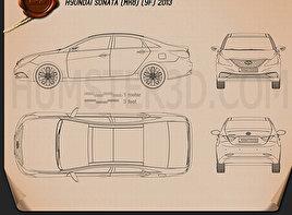 Hyundai Sonata (i45) 2012 Blueprint