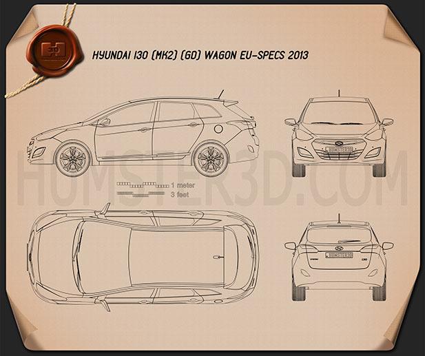 Hyundai i30 5-door wagon (EU) 2013 Blueprint