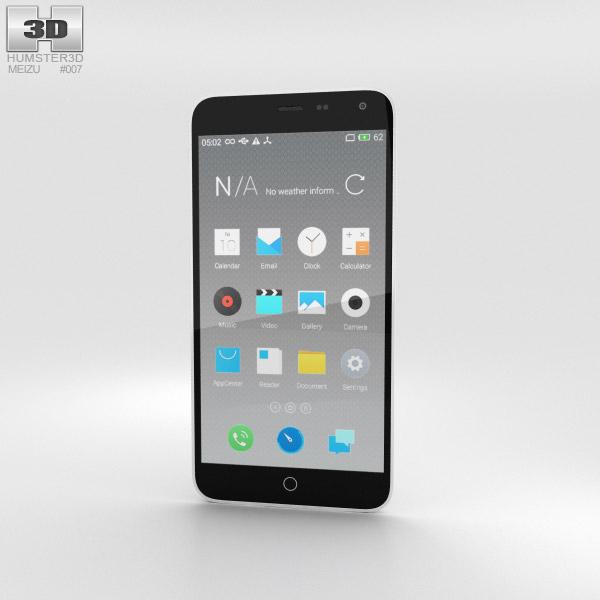 Meizu M1 Note White 3D model