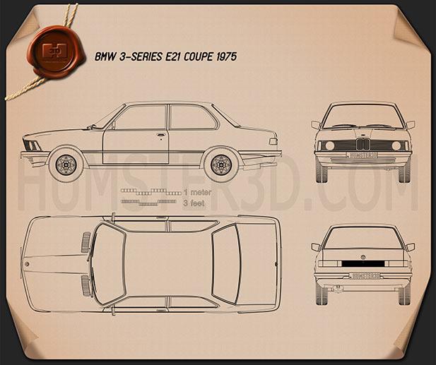 BMW 3 Series coupe (E21) 1975  Blueprint