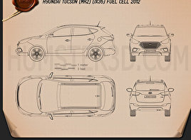 Hyundai Tucson (ix35) Fuel Cell 2012 Blueprint