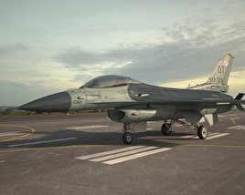 3D model of General Dynamics F-16C Block 52