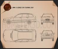 BMW 3 Series touring (E46) 2001 Blueprint