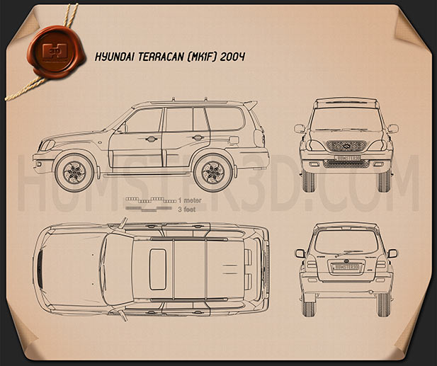 Hyundai Terracan 2004 Blueprint