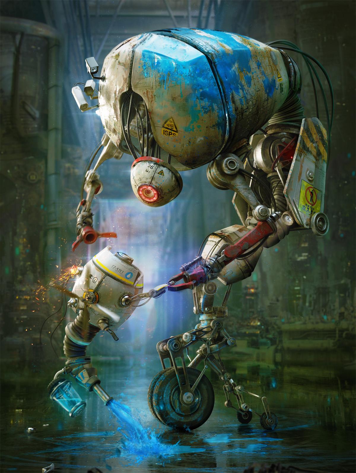"""Painting Robots"" by Gleb Alexandrov"