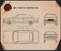 BMW 3 Series convertible (E30) 1990 Blueprint