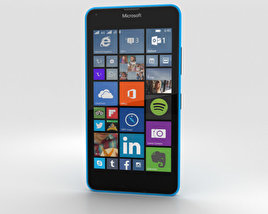 3D model of Microsoft Lumia 640 LTE Glossy Cyan