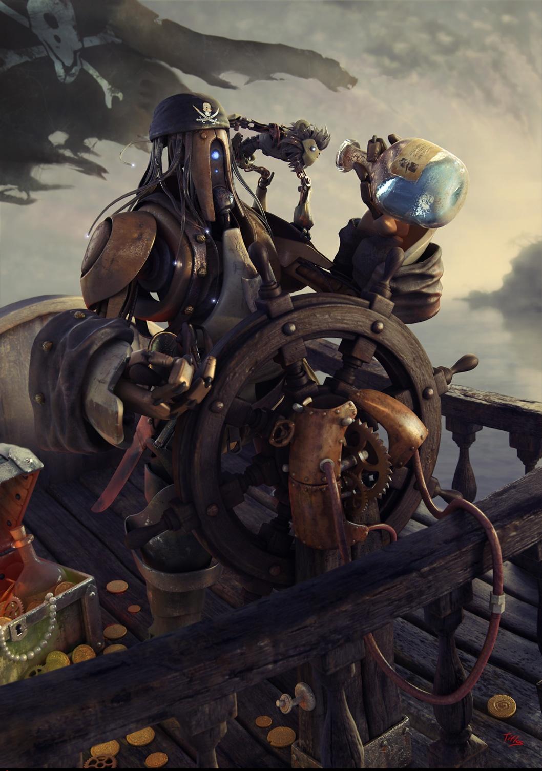 Pirate Robot by Angel Gabriel Diaz Romero