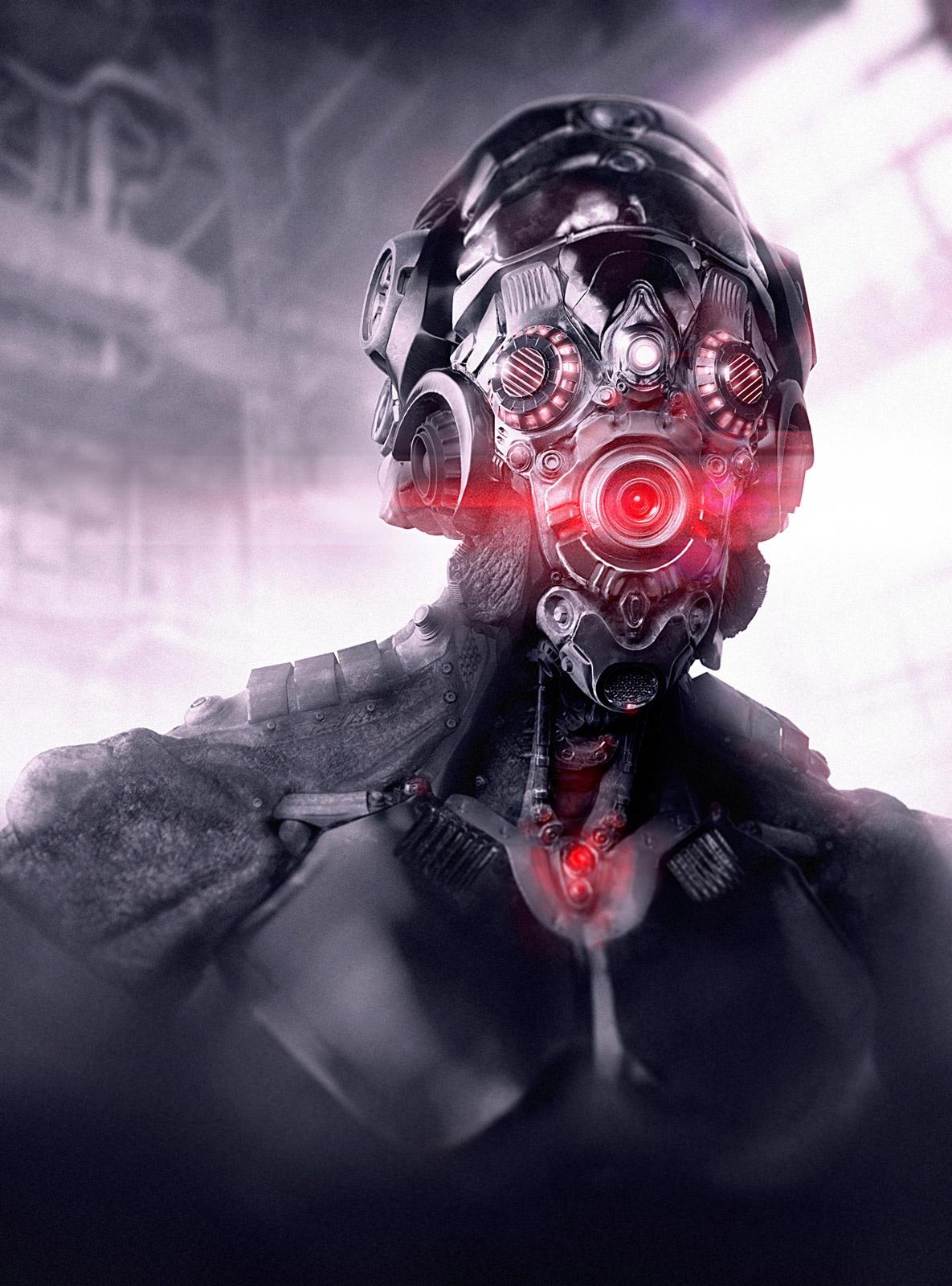 Alien cyborg by James Suret