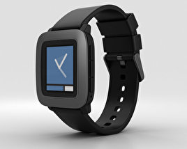 3D model of Pebble Time Black