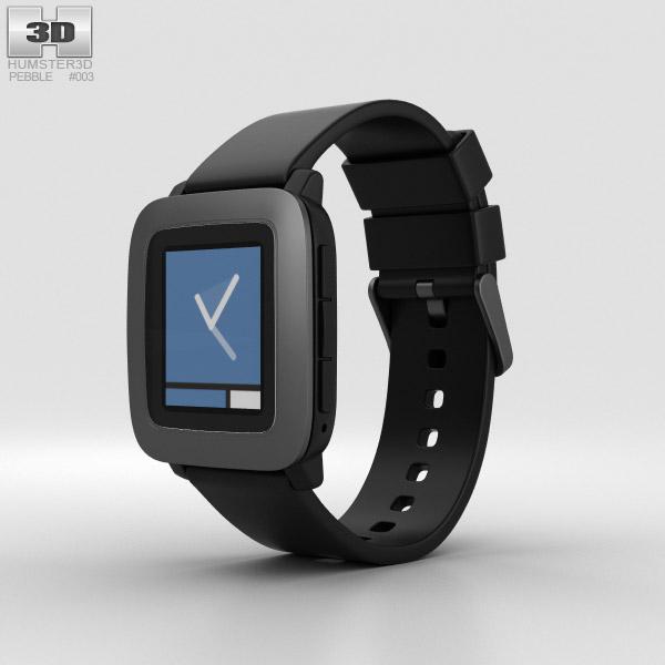Pebble Time Black 3D model
