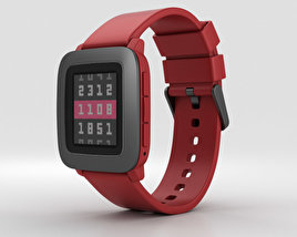 3D model of Pebble Time Red