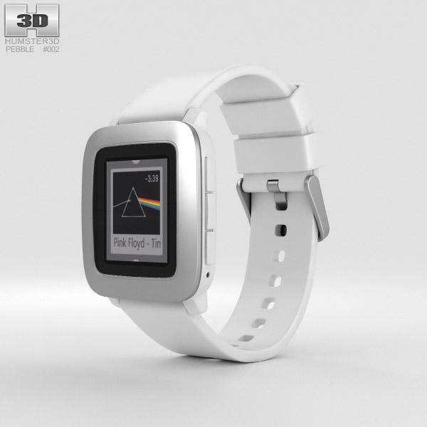 3D model of Pebble Time White