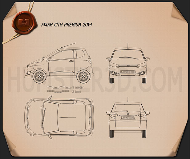 Aixam City Premium 2014 Blueprint