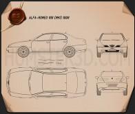 Alfa-Romeo 166 1998 Blueprint