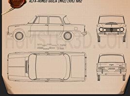 Alfa-Romeo Giulia (105) 1962 Blueprint