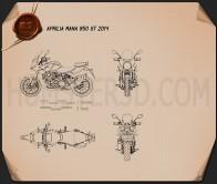 Aprilia Mana 850 GT 2014 Blueprint