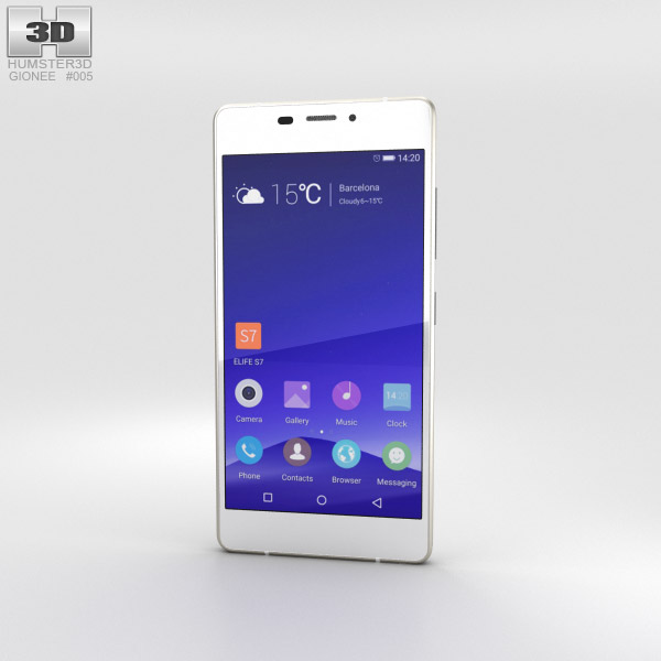 Gionee Elife S7 North Pole White 3D model