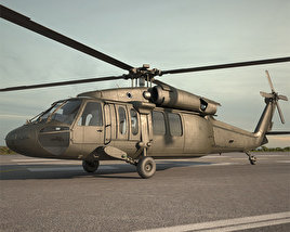 3D model of Sikorsky UH-60 Black Hawk