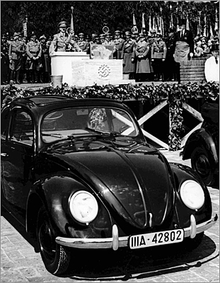 The grand opening of the Volkswagen car factory