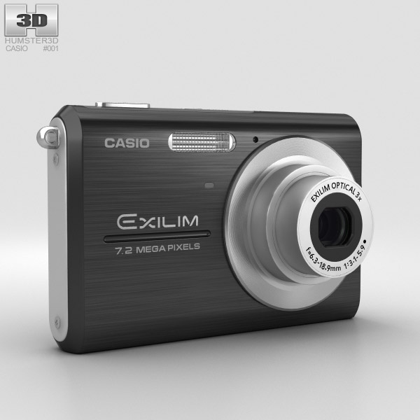3D model of Casio Exilim EX-Z75 Black