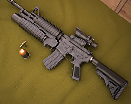 3D model of Colt M4A1 with M203