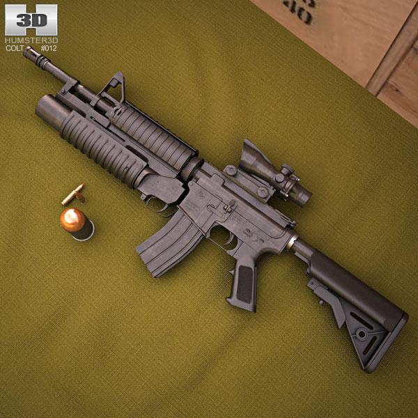 Colt M4A1 with M203 Modello 3D